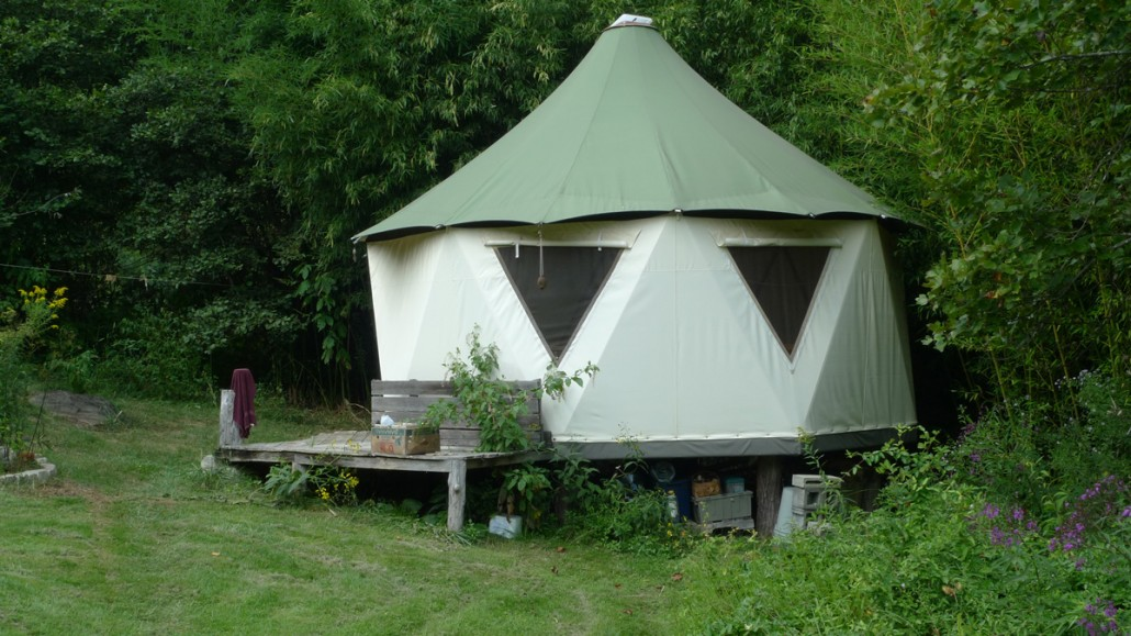 Yurt tent home by Red Sky Shelters branded Yomes with dome features and tensile construction