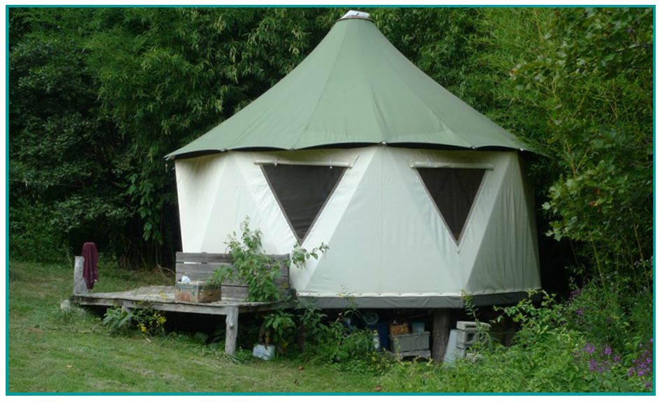 Image of UltraYome exterior of tiny yurt dome house